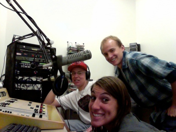 Micah, Derek, and Nicole in Studio